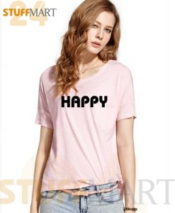 Tshirt happy - Tshirt Adult Unisex Size S-3XL