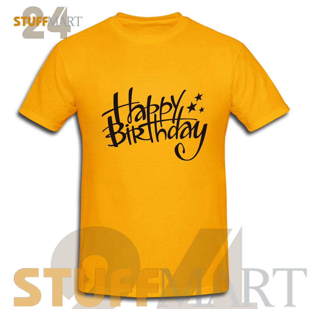 Tshirt Happy Birthday Adult Unisex Size S 3XL Stuffmart24